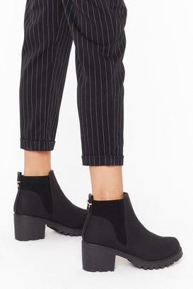 Nasty Gal Womens Chelsea Girls Cleated Heeled Boots - Black