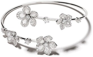 David Morris 18kt white gold Miss Daisy Open Twist diamond bangle