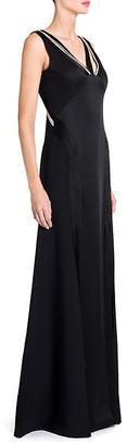 Versace Embellished V-Neck Gown
