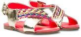 Billieblush Gold Sandals with Braid Detail