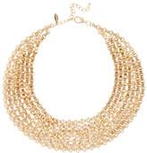 Natasha Accessories Gold-Tone Chain Link Bib Necklace