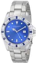 Akribos XXIV Unisex AK702BU Swiss Quartz Blue Crystal Stainless Steel Bracelet Watch