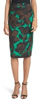 Milly Women's Classic Floral Print Midi Skirt