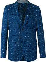 Etro dot weave two-button jacket - men - Silk/Cotton/Cupro - 50