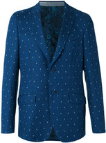 Etro dot weave two-button jacket