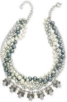Charter Club Silver-Tone 2-Pc. Set Crystal & Imitation Pearl Necklaces, Created for Macy's