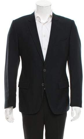 Dolce & Gabbana Virgin Wool-Blend Two-Button Blazer
