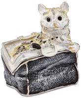 Bejewel Pewter Miss Kitty in Purse Trinket Box