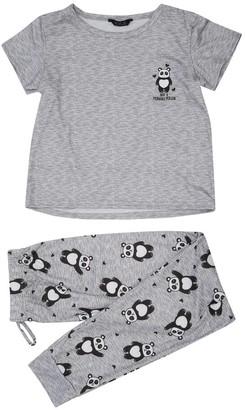 M&Co Teen panda pyjama set