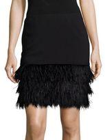 Polo Ralph Lauren Ponte Feather-Hem Skirt