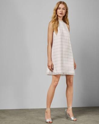 Ted Baker Pleated Ruffle Detail Sleeveless Dress