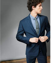 Express classic wool blend stretch suit jacket