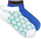 Hue Women's 2-Pk. Dot Pom Pom No-Show Socks