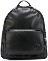 Giorgio Armani logo detail backpack - men - Cotton/Leather/Polyester - One Size