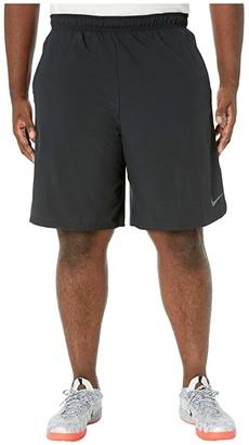 Nike Big Tall Flex Shorts Woven 2.0 (Black/Dark Grey) Men's Shorts