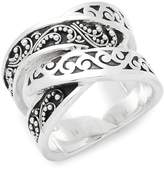 Lois Hill Women's Carved Sterling Silver Ring
