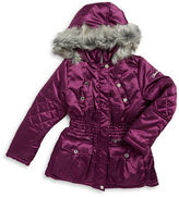 Hawke & Co Girls 7-16 Faux Fur Trimmed Puffer Coat