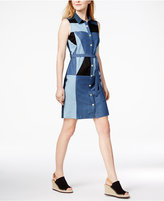 Tommy Hilfiger Patchwork Cotton Shirtdress, Only at Macy's