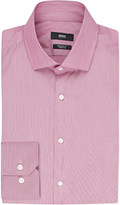 HUGO BOSS Regular-fit stripe-print cotton shirt