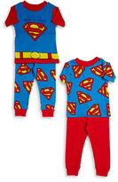 AME Sleepwear Four-Piece Superman Pajama Set