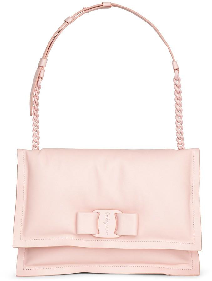 Salvatore Ferragamo Viva bow bag nylund pink