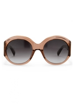 Matthew Williamson Blush Oversized Sunglasses