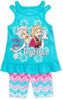 Disney Disney's Frozen 2-Pc. Graphic Tank Top & Bike Shorts Set, Toddler Girls (2T-5T)