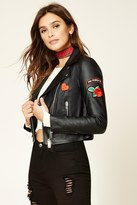 Forever 21 FOREVER 21+ Patched Moto Jacket