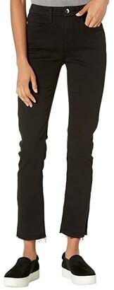 Jen7 Ankle Straight Jeans w/ Split Released Hem
