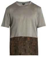 Lanvin Contrast-panel crew-neck cotton T-shirt