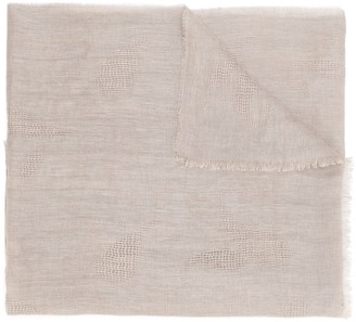 Fashion Clinic Timeless Textured Frayed Edge Scarf