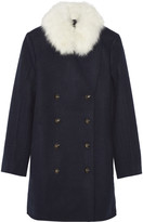 Sonia Rykiel Shearling-trimmed wool coat