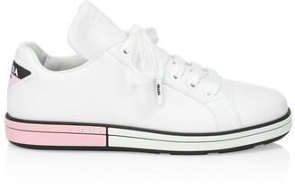 Prada Low-Top Leather Sneakers