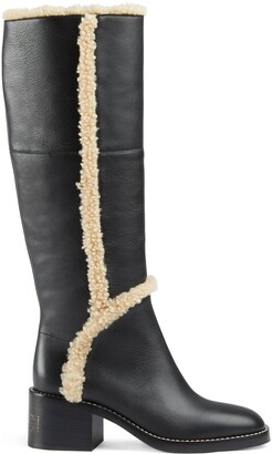 Gucci Women's knee-high boot with logo