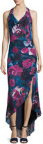 Haute Hippie Silk Sleeveless Cowl-Neck Dress, Printed