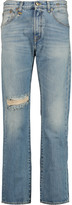 R 13 Catherine distressed high-rise straight-leg jeans