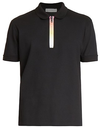 Givenchy Degrade Zip Slim-Fit Polo