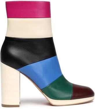 Valentino Garavani Color-block Leather Ankle Boots