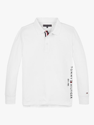 Tommy Hilfiger Boys' Organic Cotton Long Sleeve Polo Shirt