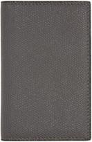 Valextra Grey Business Card Holder