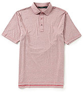 Bobby Jones Golf Riverside Heather Stripe Stretch Short-Sleeve Polo