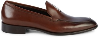 Roberto Cavalli Logo Leather Dress Shoes