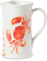 Vietri Costiera Crab Pitcher - Coral
