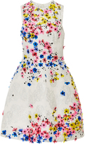 Monique Lhuillier Embroidered Sleeveless Dress