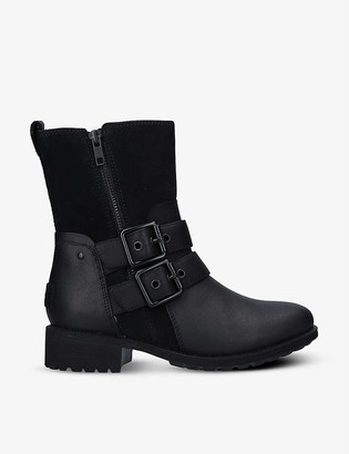 UGG Wilde waterproof leather and suede boots