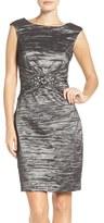Eliza J Women's Embellished Taffeta Sheath Dress