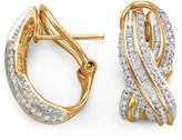JCPenney FINE JEWELRY 3/4 CT. T.W. Diamond X 10K Yellow Gold Earrings