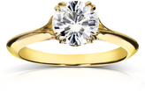 Kobelli Jewelry 1 1/9 CT Forever One Moissanite and Diamond 14K Gold Vintage Milgrain Engagement Ring