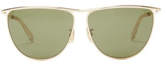 Celine D-frame Metal Sunglasses - Gold