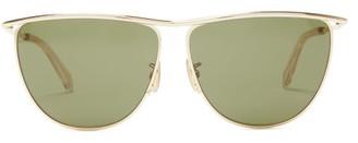 Celine D-frame Metal Sunglasses - Mens - Gold